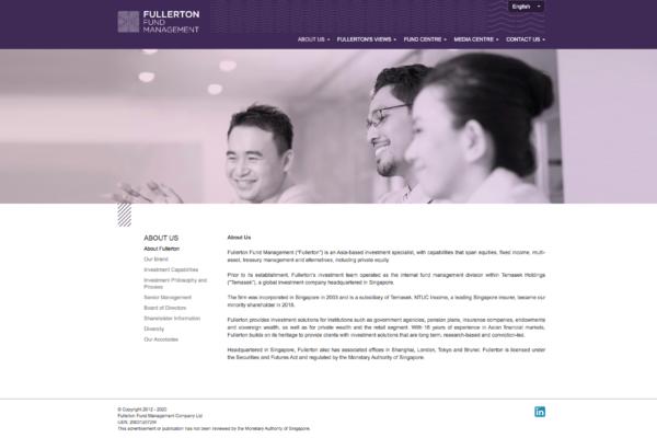 About Fullerton - Fullerton Fund Management