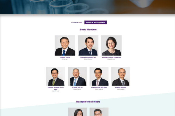 Board Management - Temasek Foundation Innovates