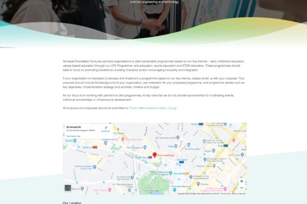 Contact Us - Temasek Foundation Nurtures