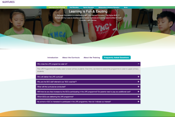 Frequently Asked Questions - Learning is Fun Exciting - Temasek Foundation Nurtures