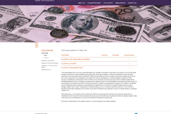 Fund Prices - Fullerton Fund Management