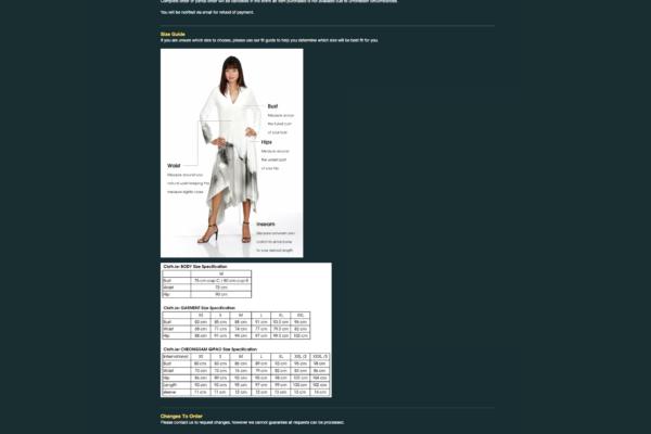 General Information Clothier.com.sg