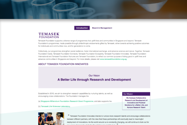 Introduction - Temasek Foundation Innovates