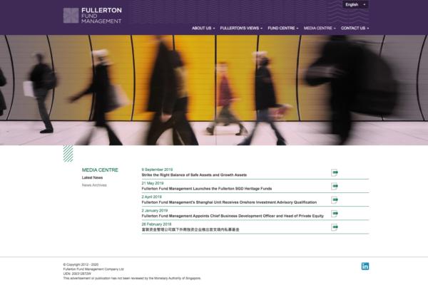 Latest News - Fullerton Fund Management