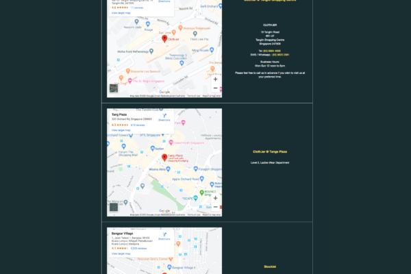 Store Locator Clothier.com.sg