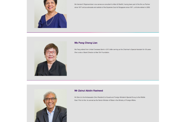 Temasek Foundation Cares - Board of Directors Management Team