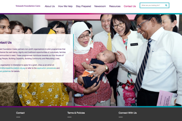 Temasek Foundation Cares - Contact Us